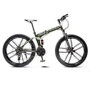 tools BMX Dirt Vélos de Route VTT Vélo de Route VTT Pliant Homme 21 Vitesse 24/26 Pouces Roues for Adultes Femmes (Color : Green, Size : 26in)