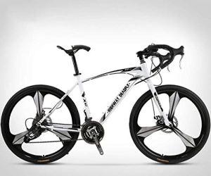 ZTYD 26 Pouces Vélo de Route, 27 Vitesses Vélos, Double Frein à Disque, Cadre en Acier au Carbone à Haute, Route de vélos de Course, et Les Femmes des Hommes Adultes Seulement,a