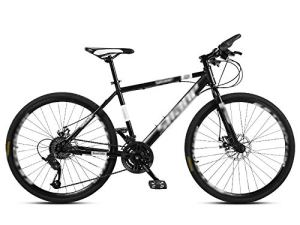 ZXGQF Les Vélos de Route de Femmes et d'hommes, Adultes Cadre en Acier au Carbone à Haute Route de vélos de Course, Roues Vélo de Route à Double Disque de Frein Vélos (D,26 inches/27 Speed)