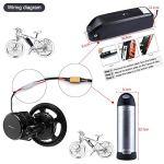 Bafang BBS01B 36V 350W Kit de Conversion pour kit de vélo électrique Kit de Moteur électrique Kit d'accessoires Kit Ebike pour kit de vélo de Montagne Vélo de Route sans Batterie