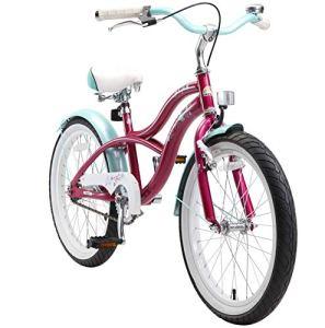 BIKESTAR Vélo Enfant pour Garcons et Filles de 6 Ans | Bicyclette Enfant 20 Pouces Cruiser avec Freins | Lilas