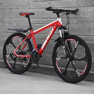 BREEZE VTT,Vélo de Montagne, vélos Tout-Terrain de 26 Pouces, vélo de Cyclisme en Plein air à, vélo de Route en Plusieurs Couleurs, Cyclisme en Plein air,Rouge,24 Speed