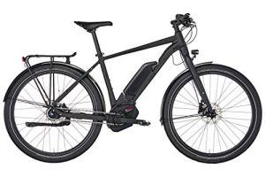 Conway 2019 Vélo de ville électrique eUrban City Noir mat 27,5″ Hauteur du cadre XS 40 cm
