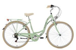 KS Cycling Casino Vélo de Ville Femme, Vert, 28″