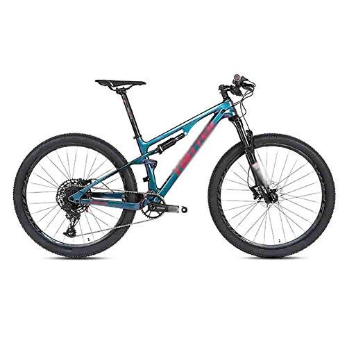 RYP Vélos de Ville VTT Vélo Souple Queue Cadre VTT VTT Adulte Route Vélos for Les Hommes et Les Femmes Double Frein à Disque BMX Suspendu (Color : A, Size : 27.5 * 17.5in)