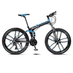 tools BMX Dirt Vélos de Route VTT Vélo de Route VTT Pliant Homme 21 Vitesse 24/26 Pouces Roues for Adultes Femmes (Color : Blue, Size : 26in)