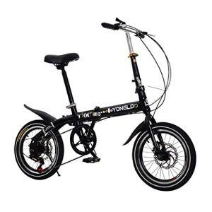YANXIH 16″ en Alliage Léger Pliant Vélo De Ville Vélo, 6 Vitesses,Freins À Double Disque (Color : T1)