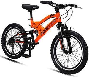 AYHa VTT enfants, 20 pouces à 6 vitesses à double suspension VTT, double acier haute teneur en Carbone V Brake Tout Terrain Vélo de montagne