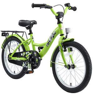 BIKESTAR Vélo Enfant pour Garcons et Filles de 5-7 Ans | Bicyclette Enfant 18 Pouces Classique avec Freins | Vert