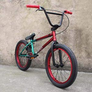 Fitness Sports Outdoors Vélo BMX 20 pouces Freestyle pour les cyclistes débutants à avancés Performances d'absorption des chocs de haute résistance Cadre 4130 25X9t BMX engrenage Frein arrière en f