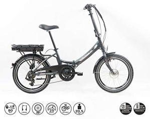 F.lli Schiano E-Star Vélo électrique Unisex-Adult, Anthracite, 20″