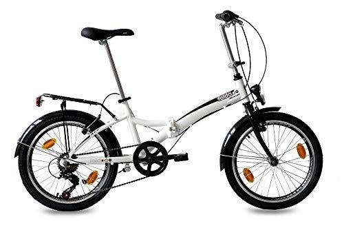 KCP 20″ VÈLO Pliant Pliable Bicyclette FOLDO ALU Blanche (w) – 50,8 cm (20 Pouces)