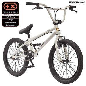 KHE BMX Cosmic Vélo 20″ avec Affix Rotor Bleu Noir Blanc 11,1 kg, Weiß