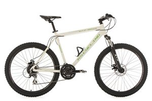 KS Cycling 354M VTT Semi-Rigide MTB Mixte Adulte, Blanc, 26″