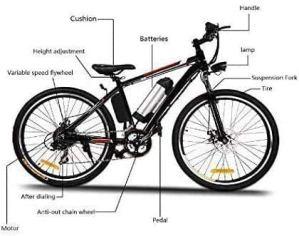 Oppikle Vélo Electrique 26″ E-Bike – VTT Pliant 36V 250W Batterie au Lithium de Grande Capacité – Ville léger Vélo de avec moyeu 21 Vitesses (Noir Rouge)