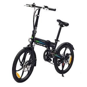 SmartGyro Ebike Crosscity Black Vélo électrique Urbain, Roues 20″, Assistance au pédalage, Batterie Amovible au Lithium 36 V 4,4 mAh, Frein à Disque, 6 Vitesses Shimano, autonomie 30-50 km