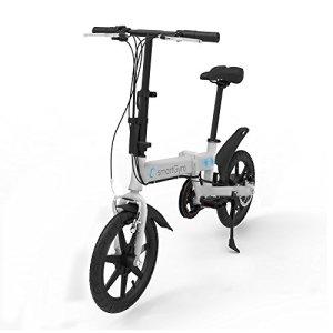 SMARTGYRO EBIKE Silver Vélo électrique Pliant, Roues de 16″ et Batterie extractible au Lithium de 4400 mAh 24V (Argent) Mixte Adulte
