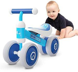XIAPIA Vélo sans pédales 1 an Vélo Bébé Baby Walker Tricycle Draisienne Premier Jouets pour 1-3 Ans Jouet Enfant 1 an (Dauphin)
