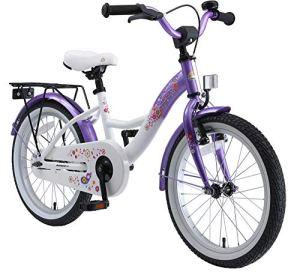 BIKESTAR Vélo Enfant pour Garcons et Filles de 5-7 Ans | Bicyclette Enfant 18 Pouces Classique avec Freins | Lilas & Blanc