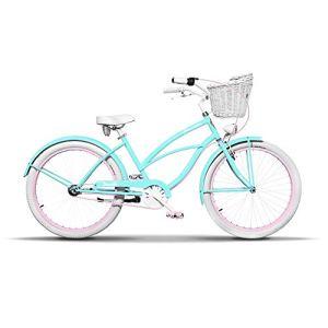 Plumbike Vélo Femme 26″ Velo Adulte Femme Dame Vintage Retro Beach Cruiser Vélo De Confort Bici Bicyclette Femme Vélo De Ville