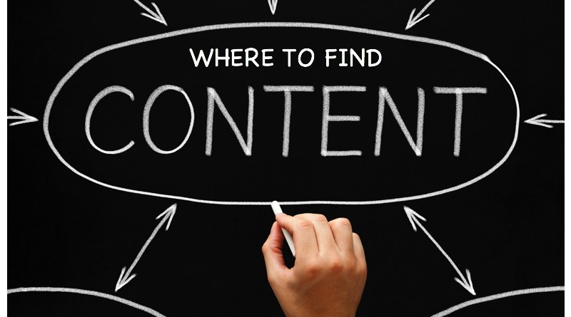 Where to find social media content