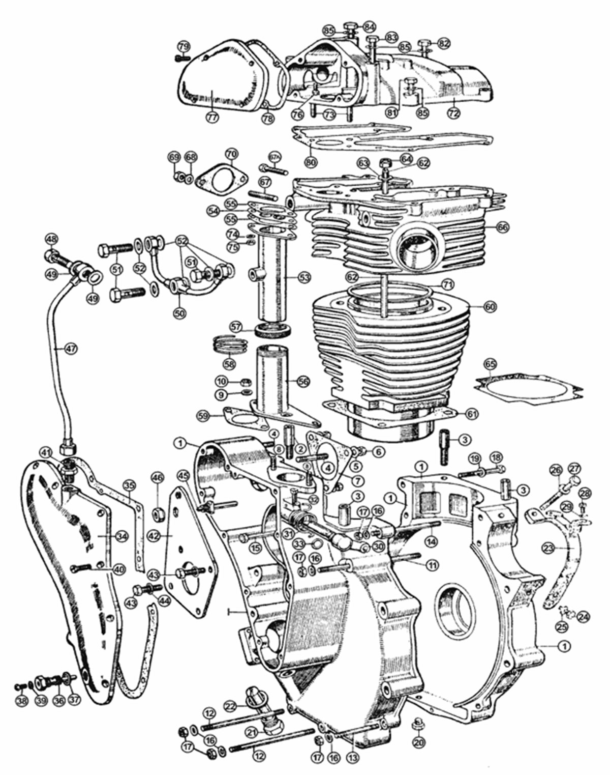 Velocette Classics Engine Exposed Parts View
