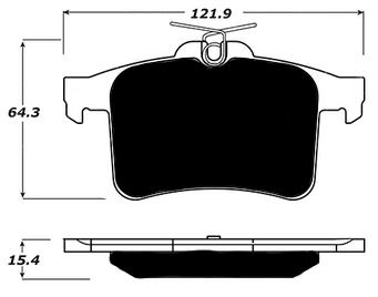 Jaguar Porterfield R4-S Brake Pads Rear AP 1449