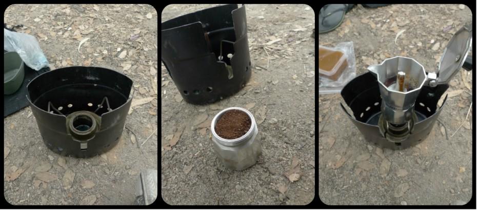 Para apagar as mágoas, voltámos às nossas tendas microscópicas e fizemos um café no nosso fogão microscópico.