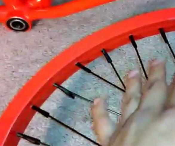 paint bicycle rims