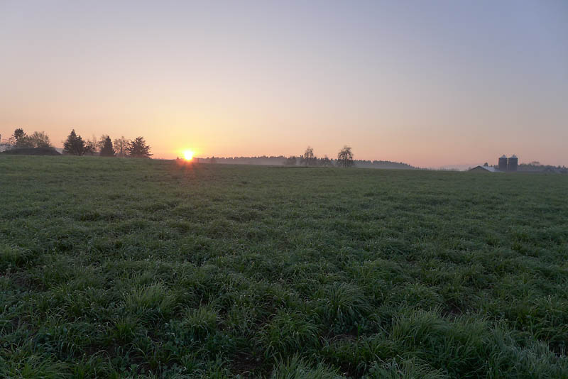 Sonnenaufgang - kurz nach der Abfahrt in Hochdorf.