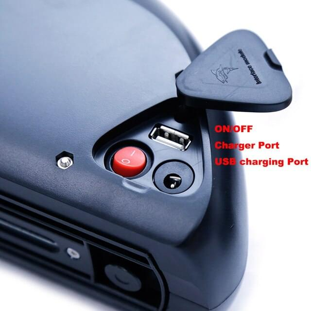 VELOGREEN KRISTALL E5 μπαταρία λιθίου ηλεκτρικού ποδηλάτου μεγάλης αυτονομίας με USB port