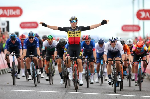 Tour of Britain: Wout van Aert secures overall victory with final stage sprint win