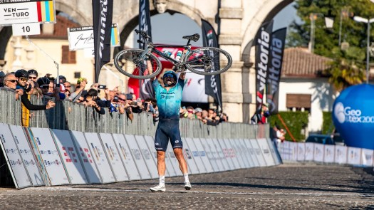 Alexey Lutsenko wins first ever pro-only gravel race as teams welcome new format