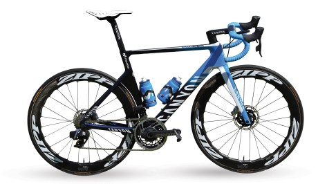 Bike of team Movistar