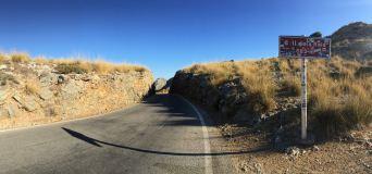 Die Start und Ziellinie zwischen den Felsen.