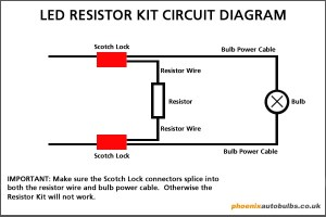 LED headlight resistor install HELP!