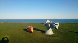 Strada Bangsbo Fortet Kongeskibet Dannebrog kan lige skimtes på havet