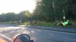 På vej fra Randers Citycamping (