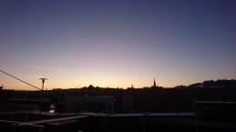Skøn morgen på vej fra Göteborg