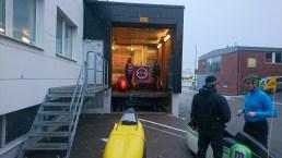 Velomobile cargobike lift at Velove