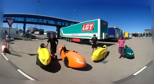 Velomobiler på Frederikshavn Havn