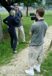 Becks interviewing.