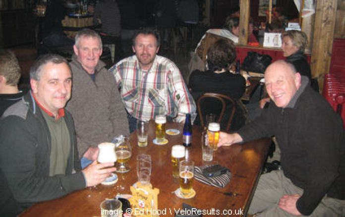 "L to R: Dirk, Dave, Ronnie and Viktor ""enjoying of the lager""."