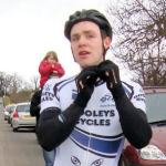 Michael rides for Dooley's Cycles in Scotland.