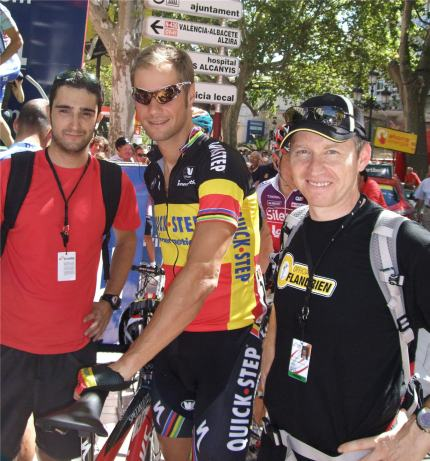John Anderson with some Belgian guy.