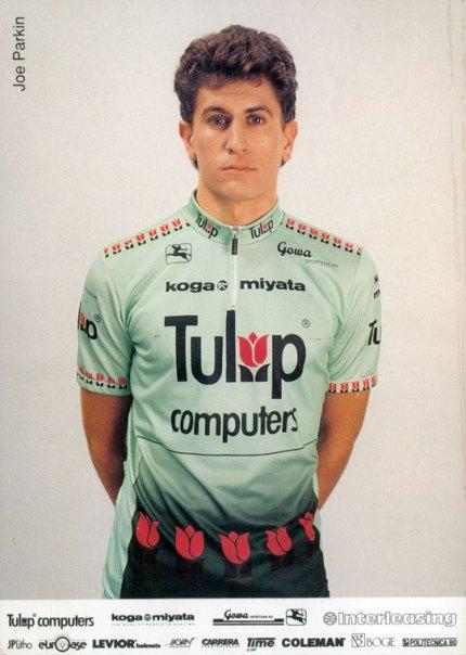 Joe rode alongside guys like Allan Peiper in the Tulip team.