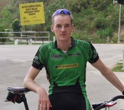 Dave relaxing at the Tour of Langkawi.