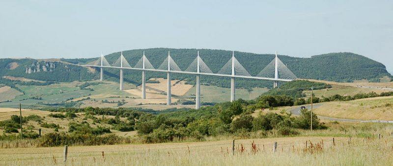 The stunning Millau viaduct.