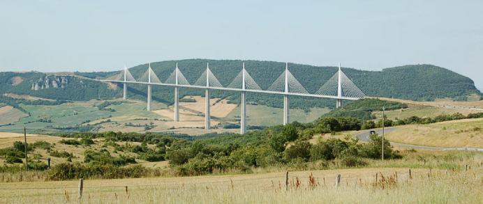 The stunning Millau viaduct.