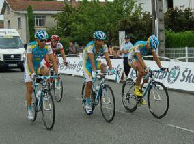 The tail end - Astana guys have worked hard.
